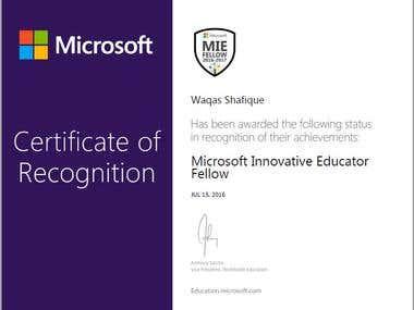 Microsoft Innovtive Eductor Fellow (MIEF)