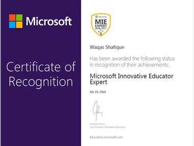 Microsoft Certified Innovative Eductor Master Expert