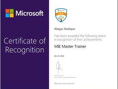 Microsoft Innovative Educator Master Trainer