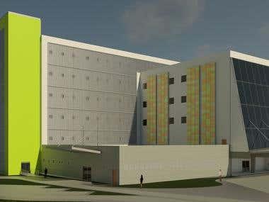 Facade of traumatology Hospital