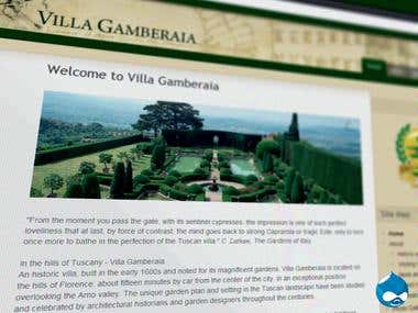 Villa Gamberaia (Drupal site - Hotel / Attraction)