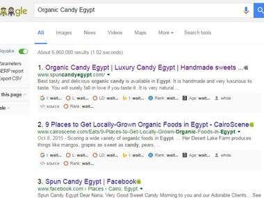 spuncandyegypt's SEO top ranking in google search