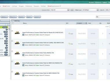 eBay Motors product listing with inkFrog.com