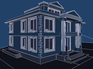 3d house blueprint