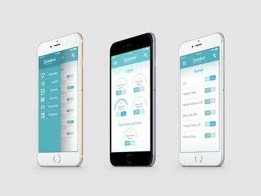 """""""Home Control"""" App UI"""