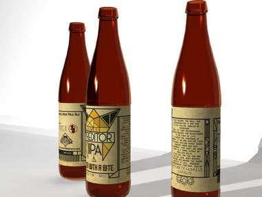 Beer label design (for sale)