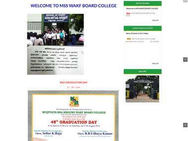 Arts & Science College Website Portal Development - CMS