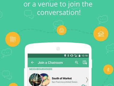 Android and iOS: Roomvine Location Based Group Chat
