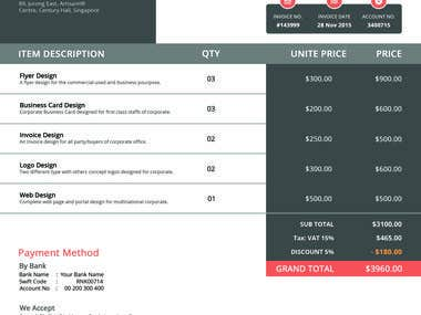 design of (Invoice)