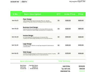 design of invoice