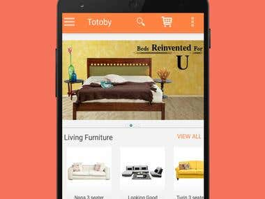 Android: Furniture eCommerce app