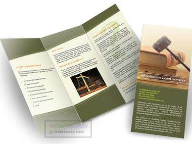Trifold Brochure for legal services firm