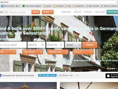 German Vacation Rentals Website - PHP/MySql