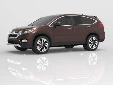 3d model - Honda CR-V for the game.