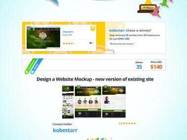 Design a Website Mockup new version of existing site
