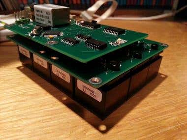 Programmable LCD screen key cluster on Ethernet