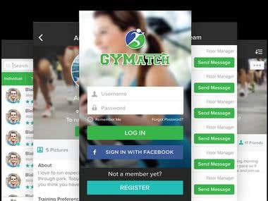 Fitness mobile app Social networking