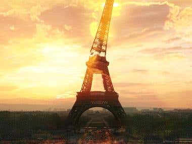 Eiffle Tower - 3D CGI Game Play Screen