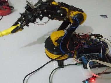 Arduino Robotic Hand+BLE(HM10) GUI