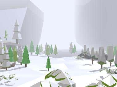 3D Modelling and Level Design - Low Poly Asset.