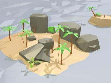 3D Modelling and Level Design - Low Poly Asset
