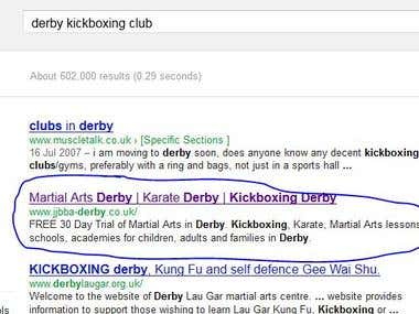 JJBBA - Karate Kickboxing - SEO Project