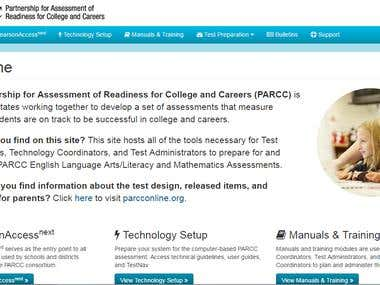 Drupal 7 website for Education sector