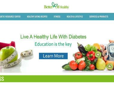 Wordpress responsive Health & Fitness sector Website