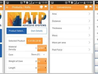 ATP - Roll Calculator & Unit Conversions - Mobile + Web