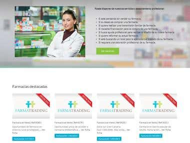 Pagina desarrolladas: Farmatrading