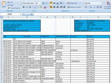 Excel to Pdf Convertion