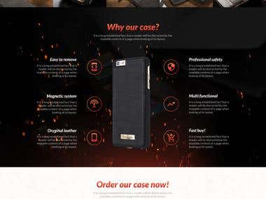 Iphone 6 case - landing page