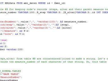 XML Parser by SQL
