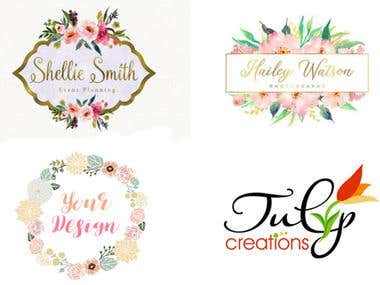 I will do your your water color feminine floral logo design