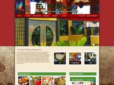 El Paraiso Website Design