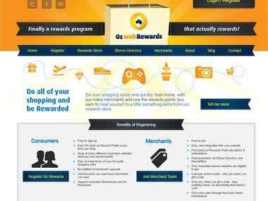 Oz web Rewards - rewards portal