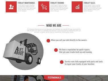 Website Design for Alift Above