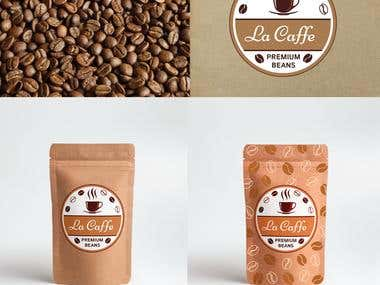 Brand and packaging design for La Caffe company.