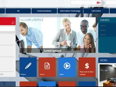 AllCare Office 365 SharePoint online responsive site
