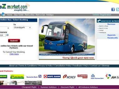 Book online bus ticket-Web application