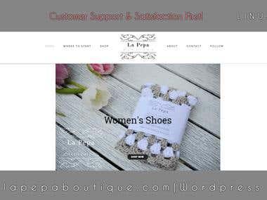 lapepaboutique woocommerce website