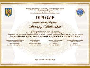 Highschool diploma design & personalization