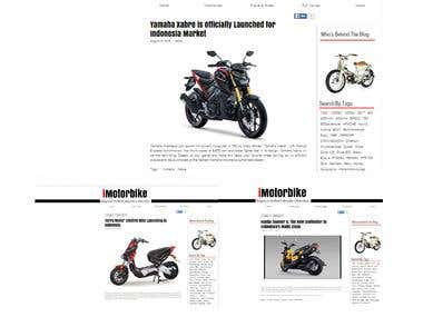 Blog Writing for iMotorbike.com