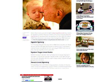 Social News Content for Malesbanget.com