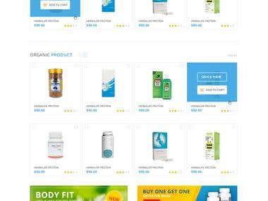 E-Commerce Medicine and Cosmetics Web Portal