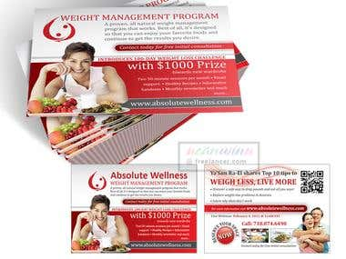 Postcard Design for Weight Management Programme