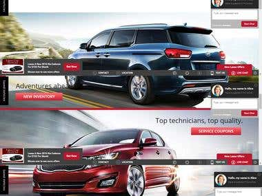 vehicle  dealer in wordpress build landing page