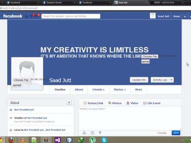 My facebook project