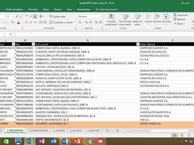 Data entry and processing in Microsoft Excel