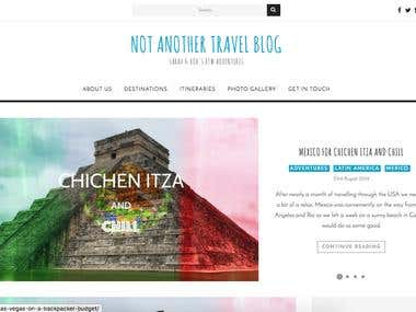 Not Another Travel Blog - WordPress Website
